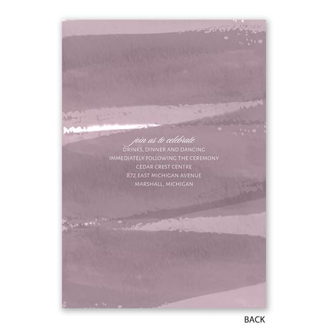 Brushstroke - Dusty Purple - Photo Invitation