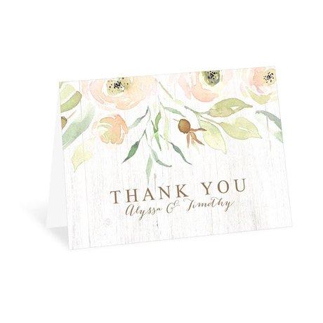 Fresh Floral Thank You Card