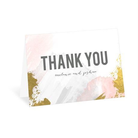 Modern Wash - Pastel Coral - Thank You Card