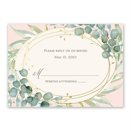 Glimmering Greenery - Gold - Foil Response Card