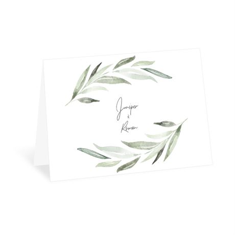 Serene Greenery Thank You Card