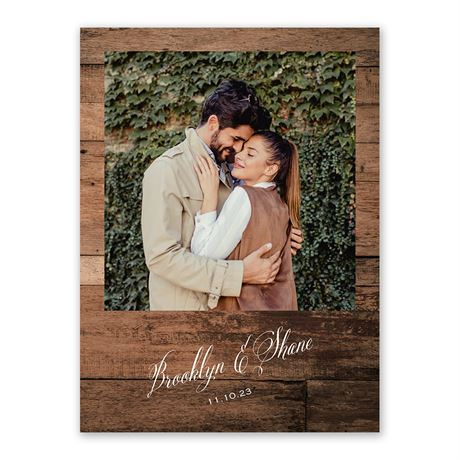 Woodgrain Frame - Save the Date Card