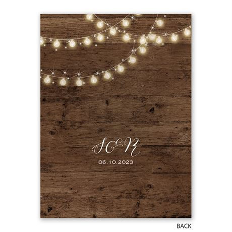 String of Lights - Save the Date Card