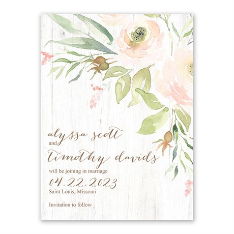 Fresh Floral - Save the Date Card