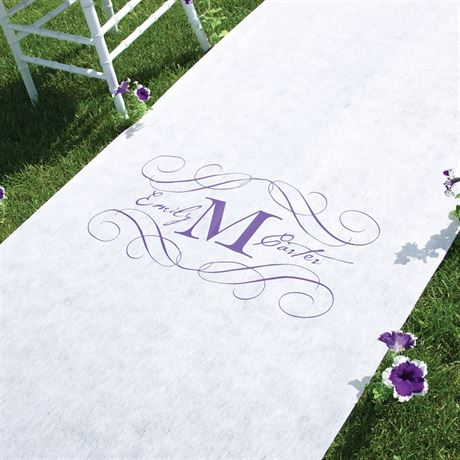 Monogram Aisle Runner