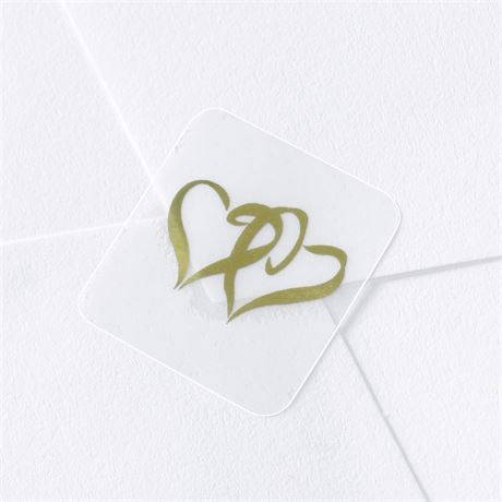 Blank Gold Hearts Seal
