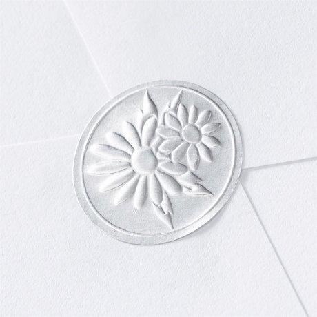 Blank Silver Embossed Daisies Seal