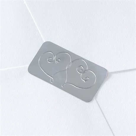 Blank Silver Hearts Seal