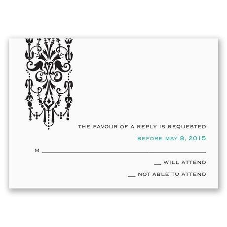 Ornate Monogram Response Card and Envelope