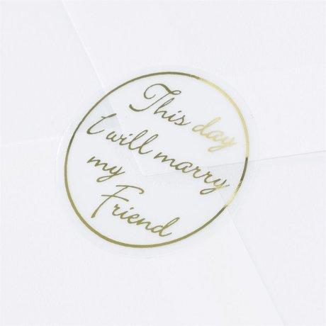 Blank Gold Friend Seal