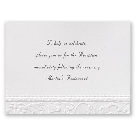 Vintage White Reception Card