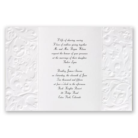 Vintage with Ribbon - White - Invitation