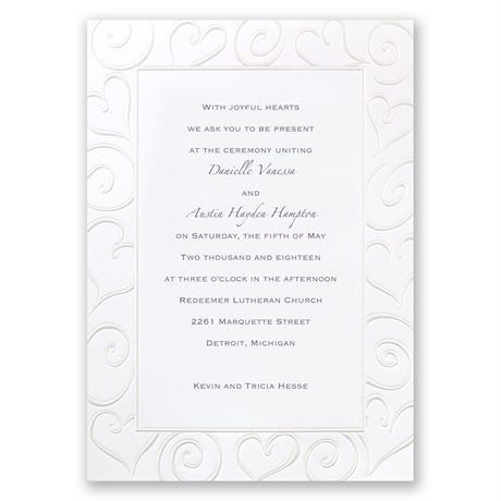 Pure Romance Invitation