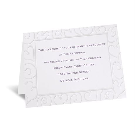Pure Romance Reception Card