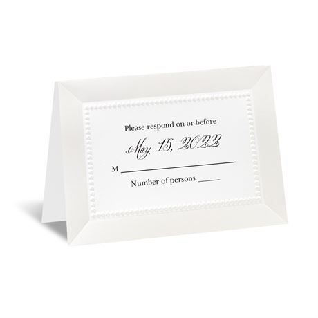 All Buttoned Up - White Respond Card and Envelope