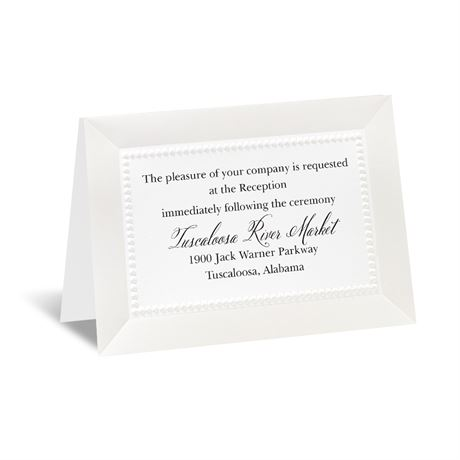 All Buttoned Up - Reception Card