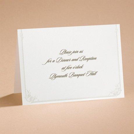 Western Wedding Reception Card
