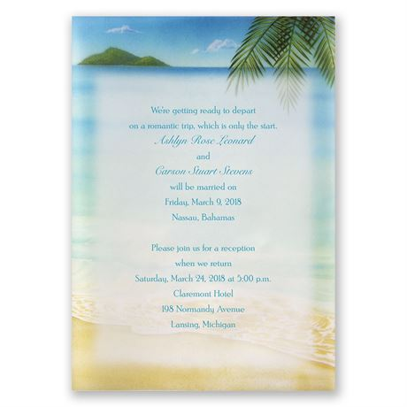 Paradise Found Invitation