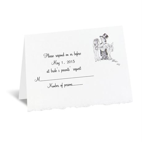 Playful Love Respond Card and Envelope