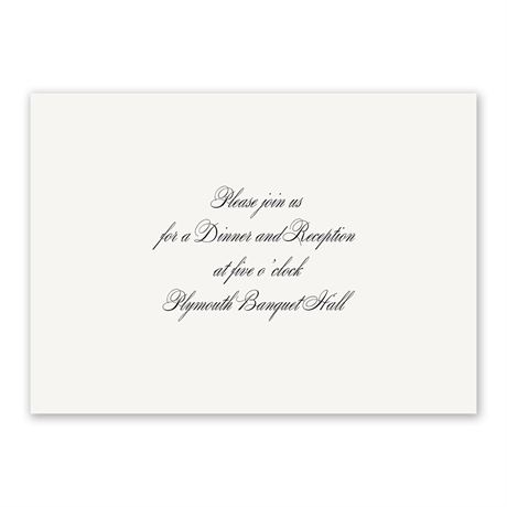 Simplicity Reception Card