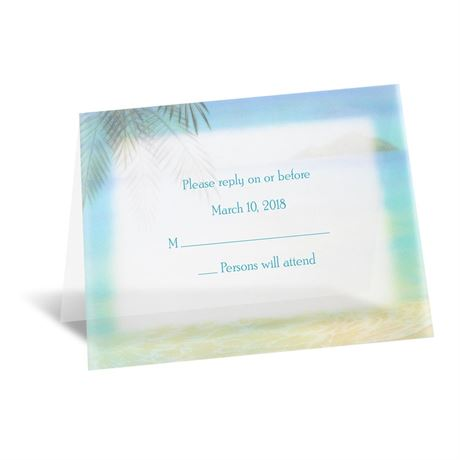 Paradise Found Respond Card and Envelope
