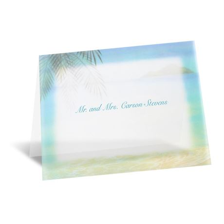 Paradise Found Note Card and Envelope