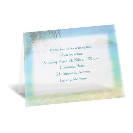 Paradise Found Reception Card