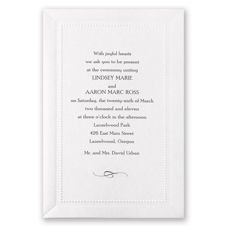 Splendid Shimmer Invitation