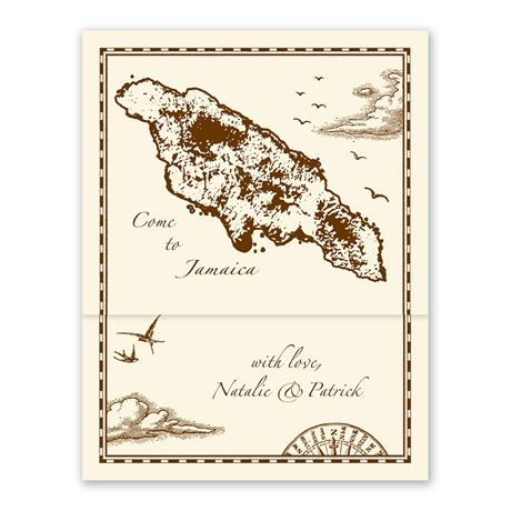 Jamaica Treasure Map Ecru ZFold Inv
