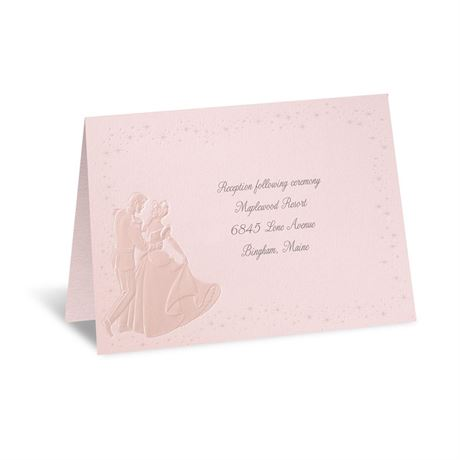Disney Dreams Come True In Pink Reception Card