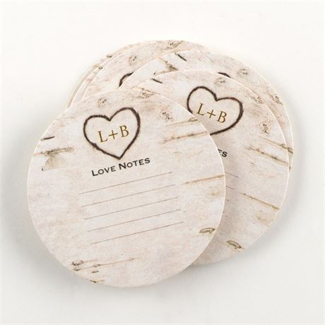 Birch Tree Carvings Advice Coaster