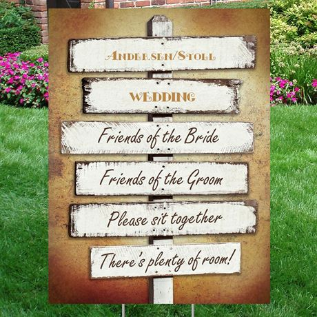 Rustic Fence Yard Sign