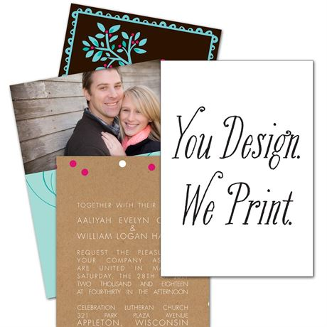 You Design, We Print 5 x 7 Invitation