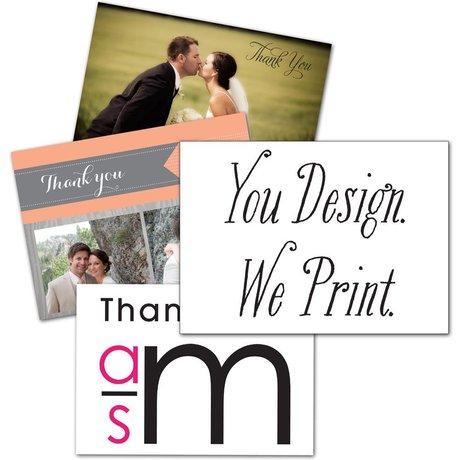 You Design, We Print Thank You Card