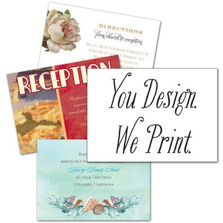 You Design, We Print Enclosure Card