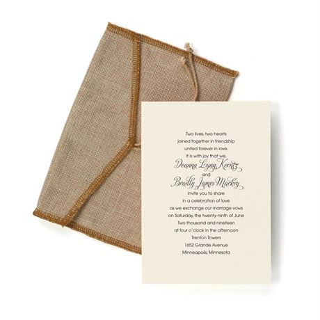 Burlap Pocket - Invitation