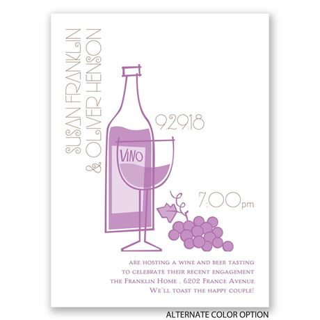 Wine and Dine - Petite Engagement Party Invitation
