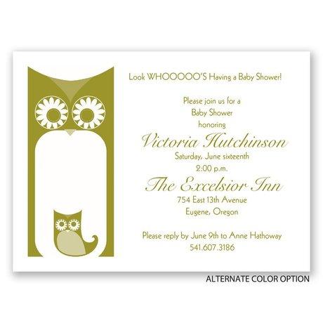 Happy Owls - Petite Baby Shower Invitation