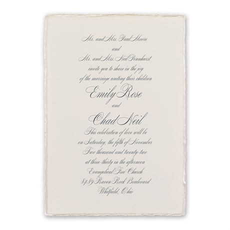 Pearl Trim Invitation
