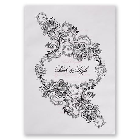 Lacy Whisper Invitation