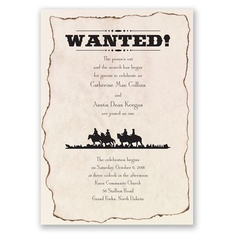 Wanted! Invitation