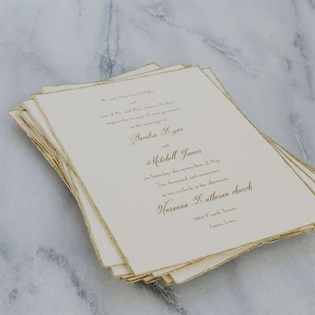 Gold Trim - Invitation