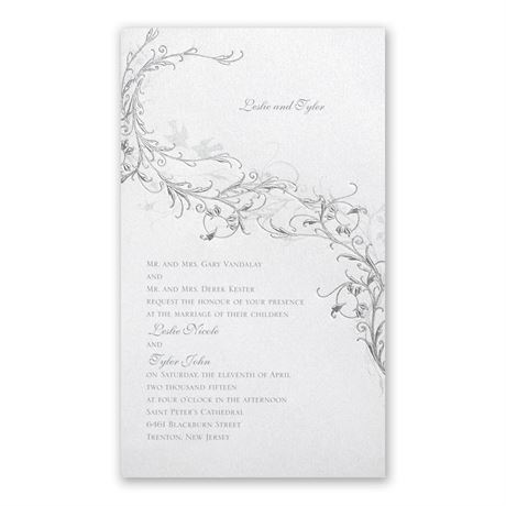 Shimmering Love Birds - Invitation