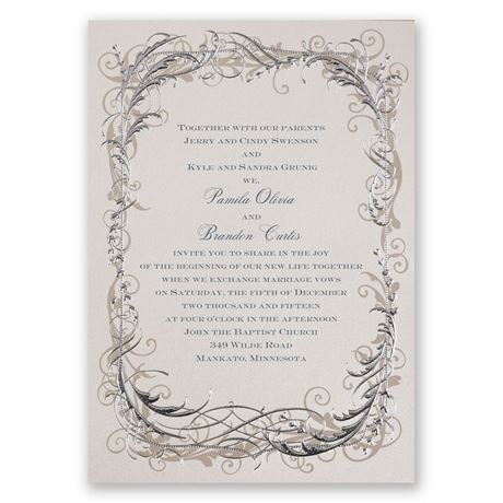 Vintage Shine Invitation