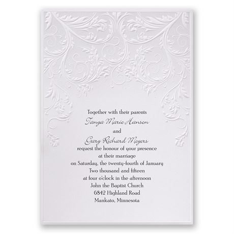 Shaded Grey Invitation