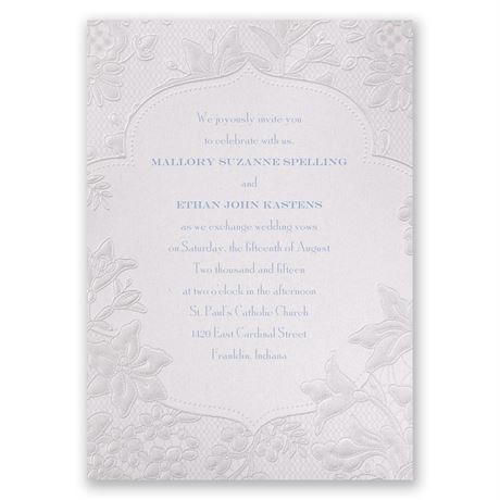 Shimmering Lace Invitation