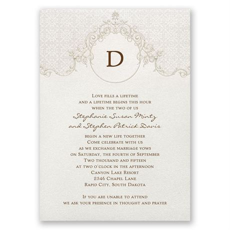 Sophisticated Monogram Invitation