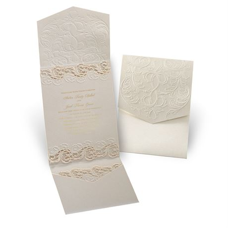 Vintage Escape Laser Cut Invitation