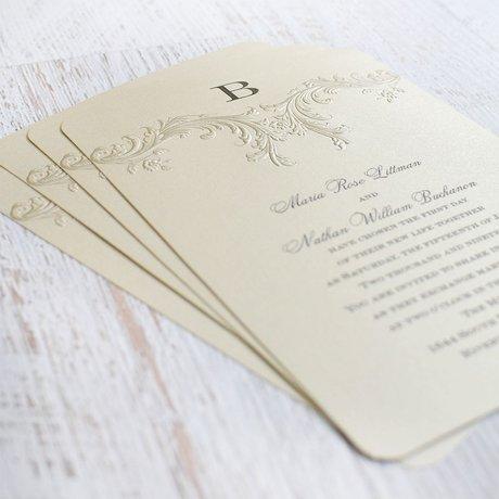 Golden Vintage - Invitation