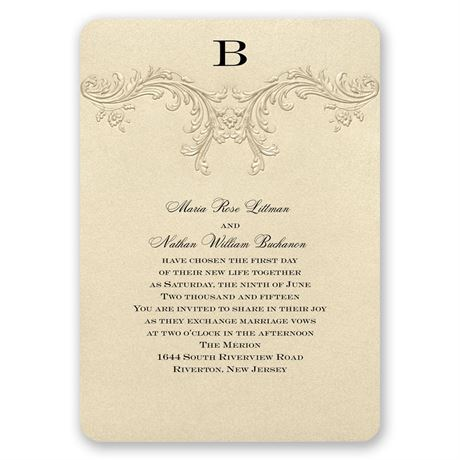 Golden Vintage Invitation